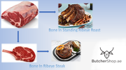 Bone In Ribeye, Short Bone, USDA Prime (Dhs 160.00 per kg)