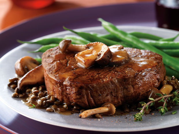 Recipe: BEEF TENDERLOIN WITH MUSHROOMS & LENTILS  | ButcherShop.ae UAE