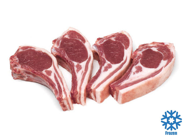 Frenched Lamb Chops, 8 Ribs - Australia (approx 900g) - Frozen