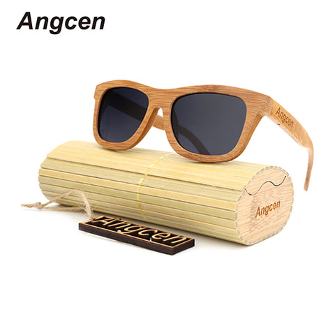 Handmade Unisex Wood Frame Glass Bamboo Sunglasses