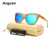 Image of Handmade Unisex Wood Frame Glass Bamboo Sunglasses