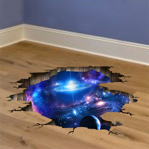 Outer Space Planets 3D Stickers for Floor or Ceiling