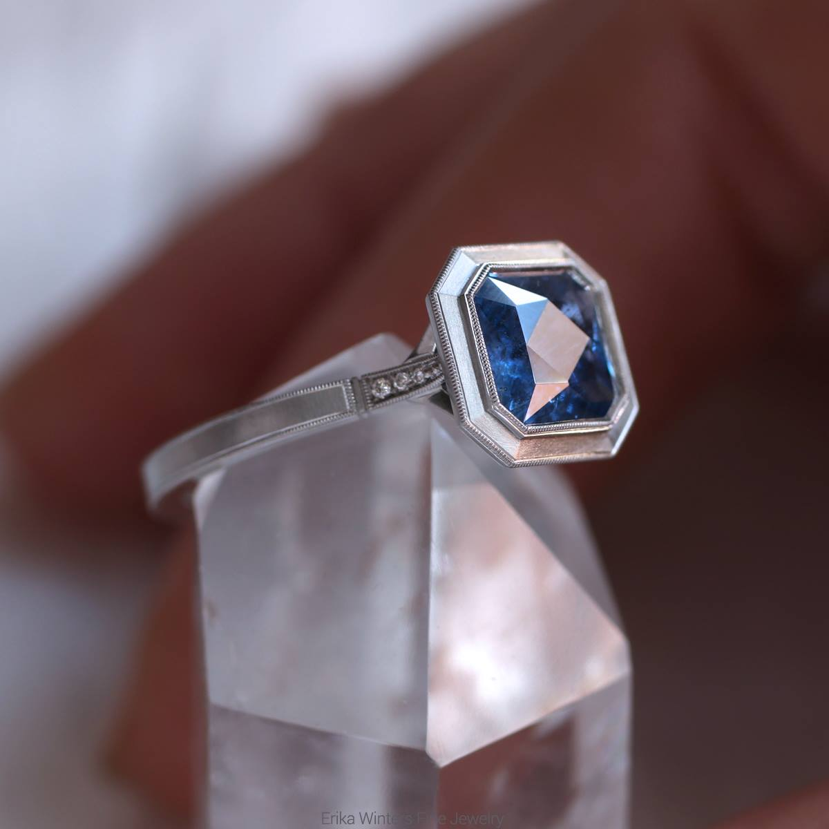 Sapphire Ring-Erika Winters Bridal Jewelry-Alchemy Jeweler