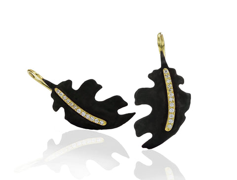 Sarah Graham Leaf Earrings