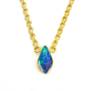 Amanda Linn Opal and Champagne Diamond Necklace