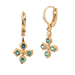 Audrius Krulis-Tourmaline Earrings-18k-yellow gold-cross