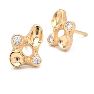 Audrius Krulis-Diamond-Stud Earrings-Alchemy Jeweler