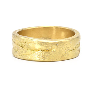 Todd Reed 18k Yellow Gold Organic Band - Mens - Alchemy Jeweler- Portland Oregon