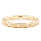 Anne Sportun Fine Jewelry - Narrow Stardust Band- Diamond/Yellow Gold