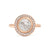 Anne Sportun Rose Cut Halo Ring