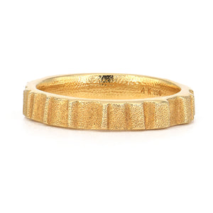 Audrius Krulis-Textured Band-18k-yellow gold-wedding band