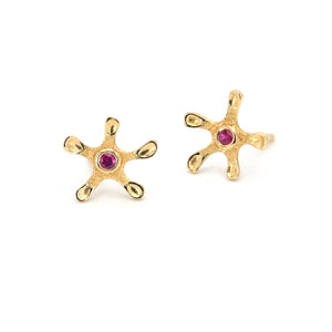 Audrius Krulis Ruby Earrings