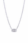 Alchemy Emerald Cut Diamond Necklace