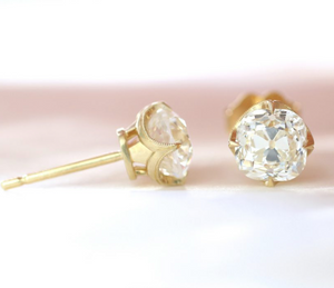 "Erika Winters ""Ani"" Old Mine Diamond Earrings"