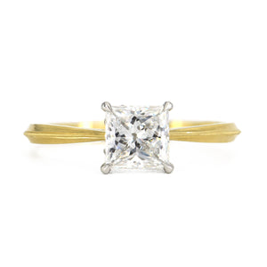 Erika Winters Laurel Cathedral Solitaire with Princess Cut Diamond