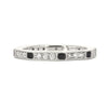 Lord Jewelry 18k Diamond and Black Enamel Band