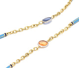 Lord Jewelry Multi-Colored Sapphire and Enamel Necklace