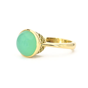 Ray Griffiths Chrysoprase Crownwork Ring