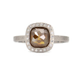 Todd Reed Natural Fancy Diamond Ring  in Palladium