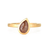 Todd Reed 18k Rose Gold Fancy Colored Pear Diamond Ring