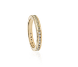 Todd Reed 18k Rose Gold Raw Cube and Brilliant Cut Diamond Eternity Band