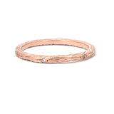 Victoria Cunningham 14k Rose Gold Diamond Bark Band