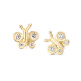 Victoria Cunningham Butterfly Stud Earrings