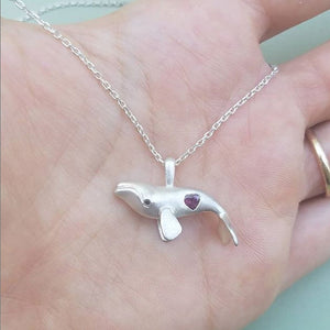 Manya & Roumen Whale Heart Necklace