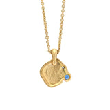 Alex Sepkus Flora Necklace - 18k yellow gold, diamond and blue sapphire