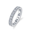 Alchemy Micro Pave Half Eternity Diamond Band in Platinum