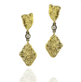 Sarah Graham Trigon Double Dangle Diamond Earrings - 18k yellow gold
