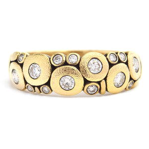 Alex Sepkus Fine Jewelry Candy Ring in 18k Yellow Gold and Brilliant Diamonds