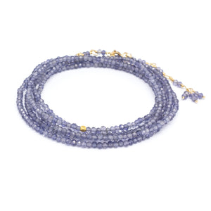 Anne Sportun Gemstone Wrap Bracelet in Iolite