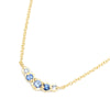 Anne Sportun Blue Sapphire Necklace in 18k yellow gold