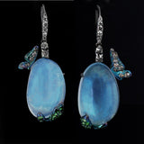 Arunashi Water Opal Butterfly Earrings