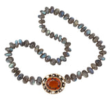Audrius Krulis Labradorite and Citrine Necklace