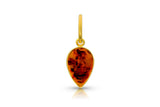 Loren Nicole Baltic Amber Pear Charm - Alchemy Jeweler
