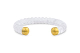 Loren Nicole Rock Crystal Bangle Bracelet