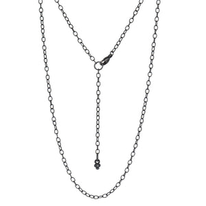 "Erica Molinari-Necklace-18-20"" Textured Oval Link Chain-Alchemy Jeweler"
