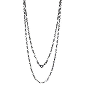 "Erica Molinari-24"" Texture Link Chain Necklace"