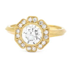 Erika Winters Fine Jewelry - Caroline Halo Ring in 18k yellow gold