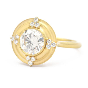 Erika Winters Fine Jewelry - Thea Halo Ring in 18k yellow gold
