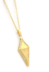 Erika Winters Fine Jewelry - Small Shield Necklace-Alchemy Jeweler-Portland Oregon