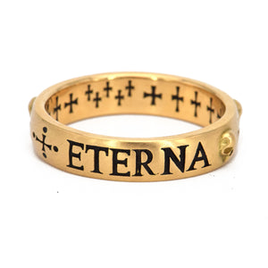 Erica Molinari-The Soul is Eternal Ring-band-18k-yellow gold-Alchemy Jeweler