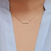 Erika Winters fine jewelry Estella Petite Bar Necklace in 18k yellow gold - Portland Oregon - Alchemy Jeweler