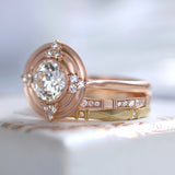 Erika Winters Fine Jewelry - Thea Halo Ring in 18k rose gold