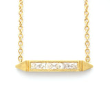Erika Winters fine jewelry Estella Petite Bar Necklace in 18k yellow gold - Portland Oregon