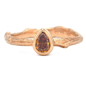 K.Brunini Orange Pear Diamond Ring - Alchemy Jeweler