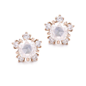 Kataoka Jewelry- Diamond Snowflake Blossom Stud Earrings