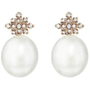 Kataoka Pearl Diamond Earrings